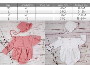 Cotton Newborn Onesie and Bonnet Set