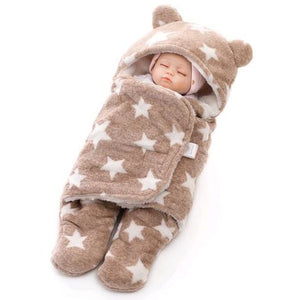 Baby Swaddle Star Wrap (brown)