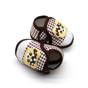 Baby First Walking Shoes (brown, white)
