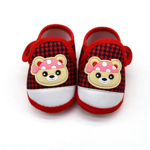 Baby First Walking Shoes (red, black and white)