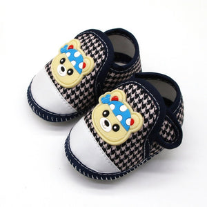 Baby First Walking Shoes (navy blue, black and white)