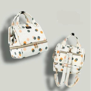 Fashion Mama Maternity Diaper Bag (white with dots)