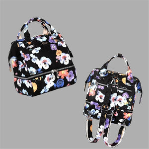 Fashion Mama Maternity Diaper Bag (black with flowers)