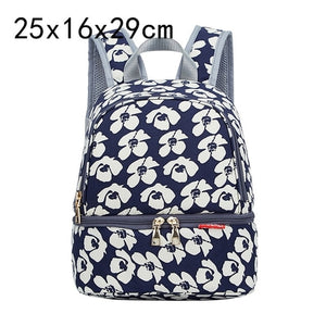 Fashion Mama Maternity Diaper Bag (navy blue with white flowers)