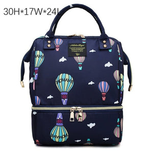Fashion Mama Maternity Diaper Bag (navy blue with air balloons)