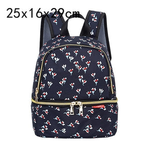 Fashion Mama Maternity Diaper Bag (navy blue with flowers)