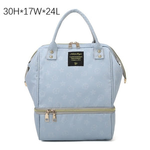 Fashion Mama Maternity Diaper Bag (light blue)