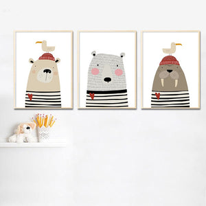 Animal Nursery Canvas Poster