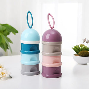 3 Layer Frog Style Milk Container (blue and pink)