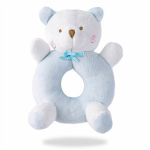 Animal Hand Bell Toy (blue and white bear)
