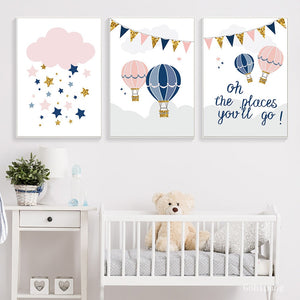 Places You'll Go Nursery Canvas