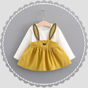 Fairy Tale Rabbit Dress (yellow and white)
