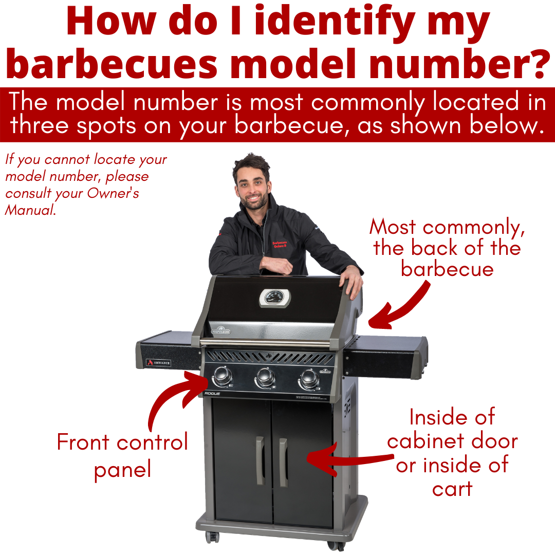 Where to find your barbecue serial number