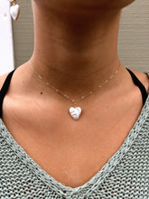 Load image into Gallery viewer, Heart Shaped Pearl Necklace