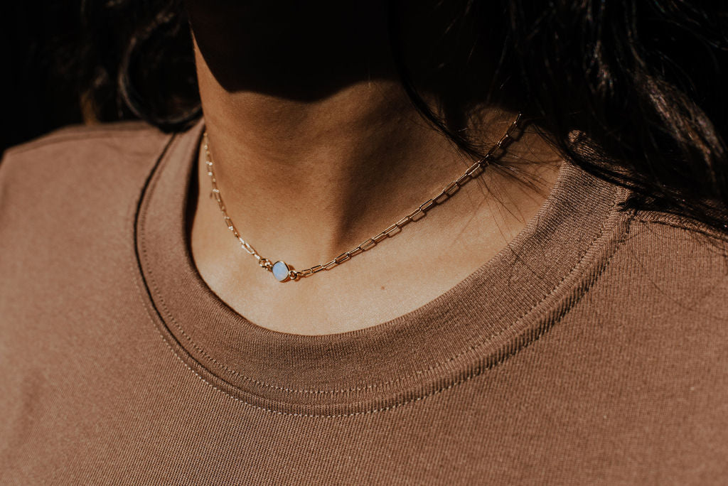 Opal Link Necklace