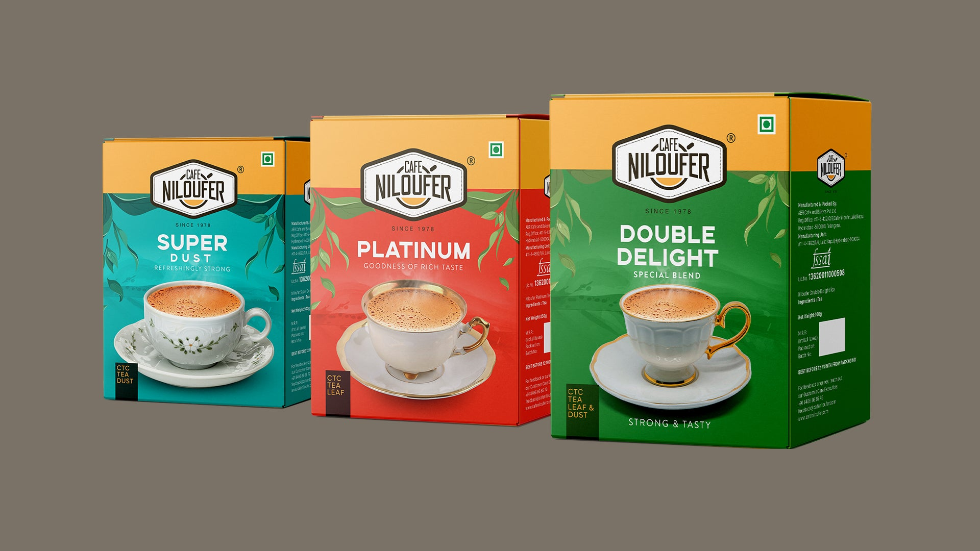 Cafe Niloufer Tea Products