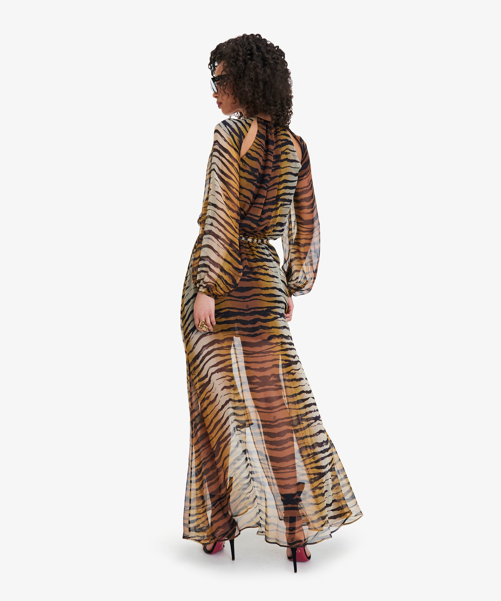 MARION Tiger-Print Maxi Dress
