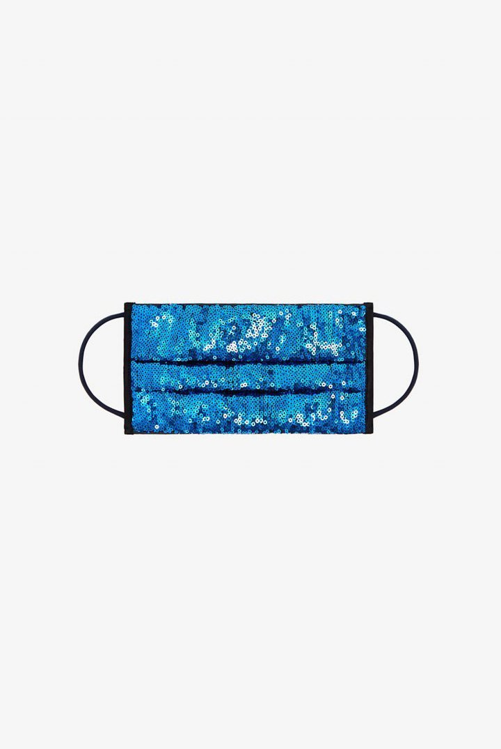 Dundas Reusable Face Mask - Blue Sequins