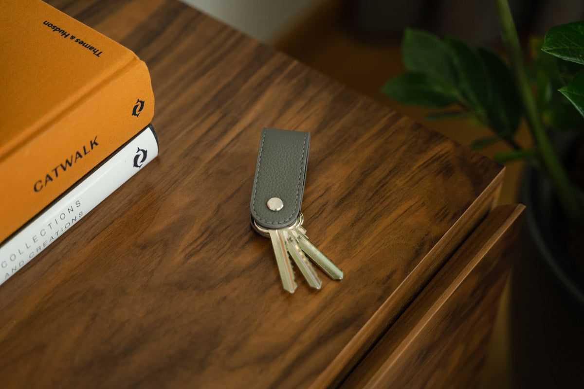 Compact Leather Key Organizer on a Table