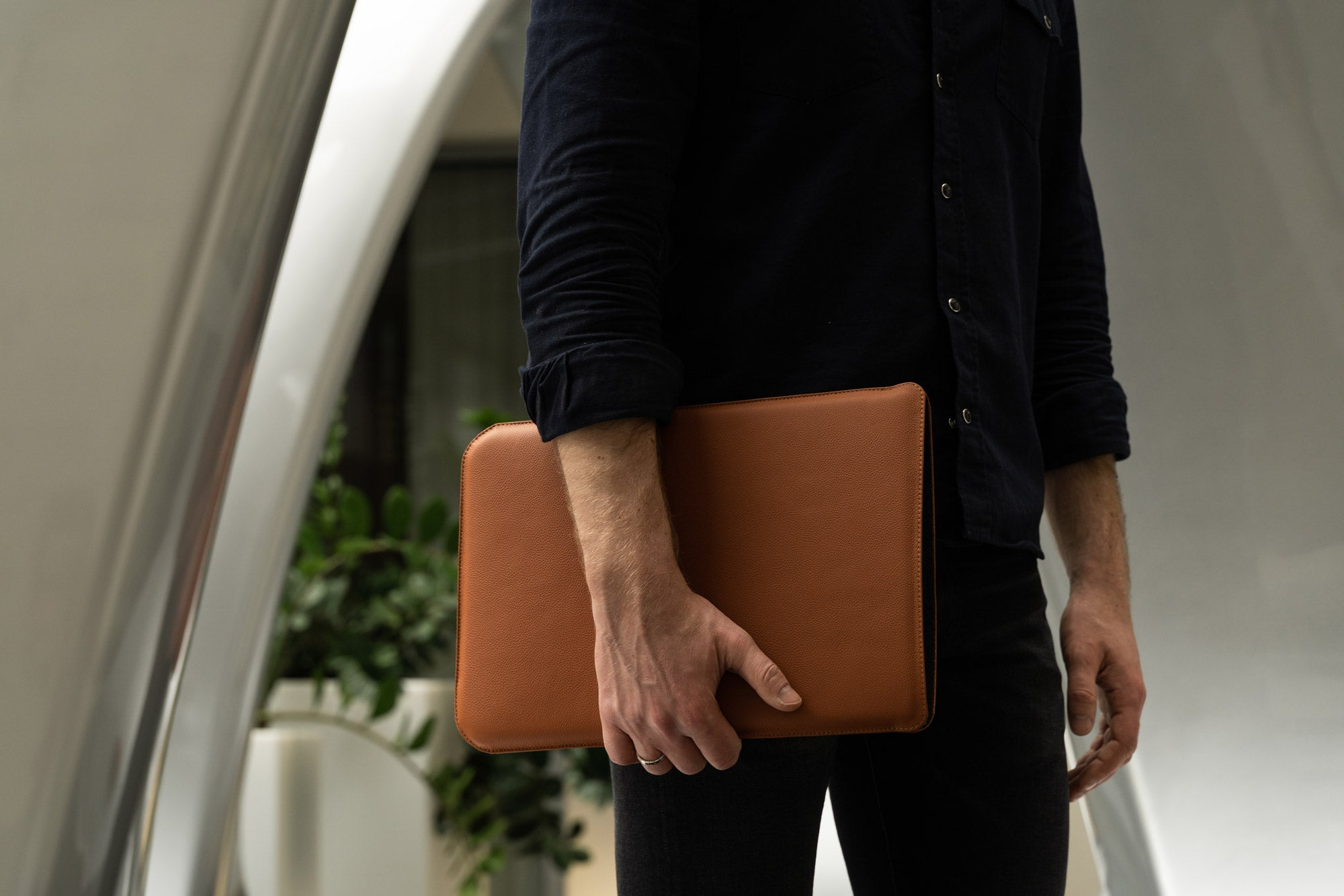 Full grain leather MacBook case by OCULT