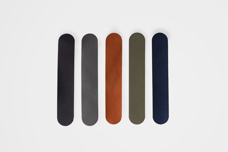 Materials we use at OCULT. Full-grain Italian leather and military canvas.