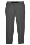 grey linen narrow pants for men