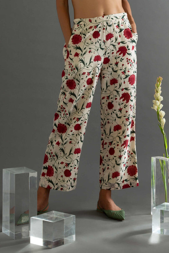 Komorebi - Muslin Printed Flared Pants