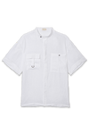 Shirt White Linen shirt with patch pockets