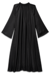 black tencel buttoned down dress for party