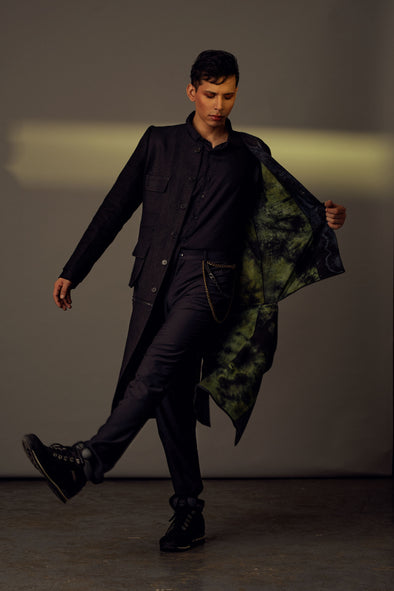 black-textured-linen-detachable-jacket-with-black-green-tie-dye-lining
