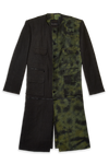 fizzle black textured linen detachable jacket for men