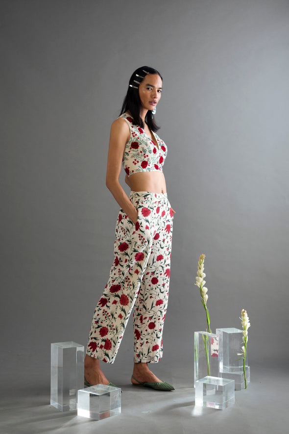 Muslin Printed Flared Pants