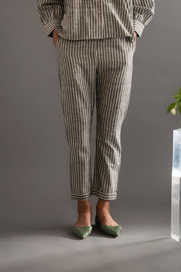 Patched Handwoven Cotton Pants