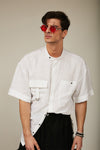 saturnine white linen shirt