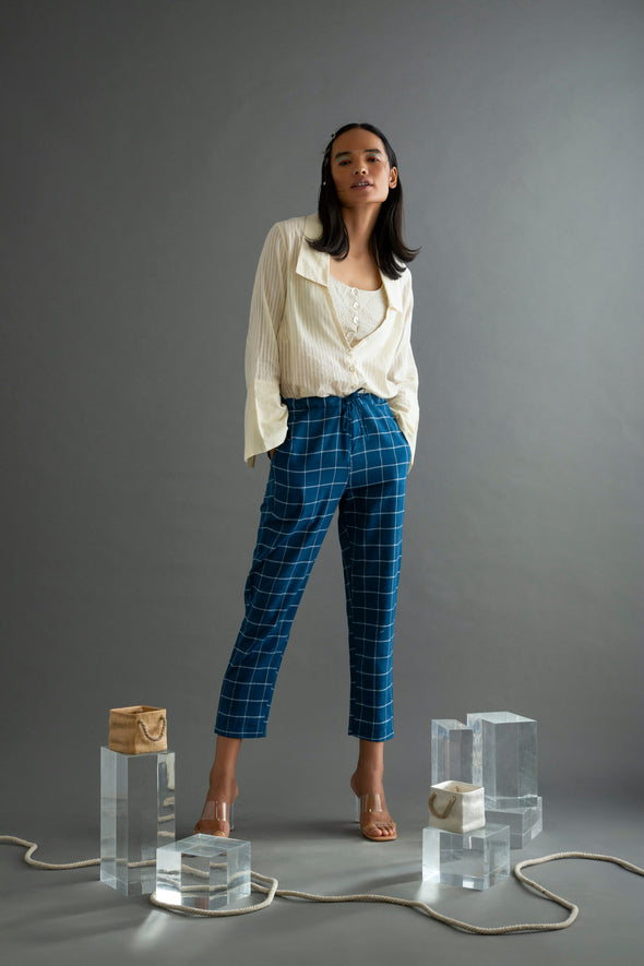 The Panacea - Blue Khadi Pants