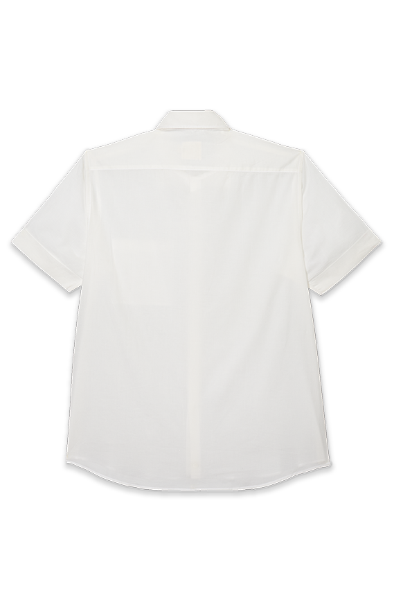 true blue white organic shirt