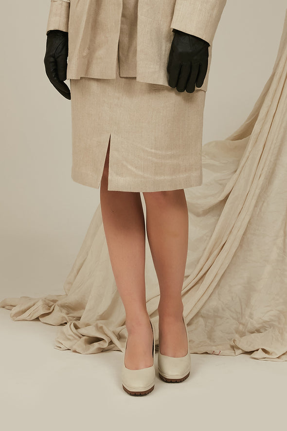 unburden linen tube skirt