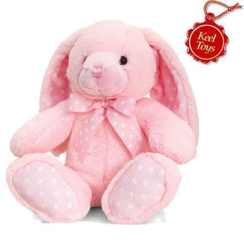 Baby Spotty Rabbit - Pink