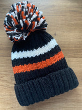 Load image into Gallery viewer, Striped Knitted Hat With Pom Pom
