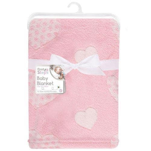 Baby Blanket - Pink Hearts