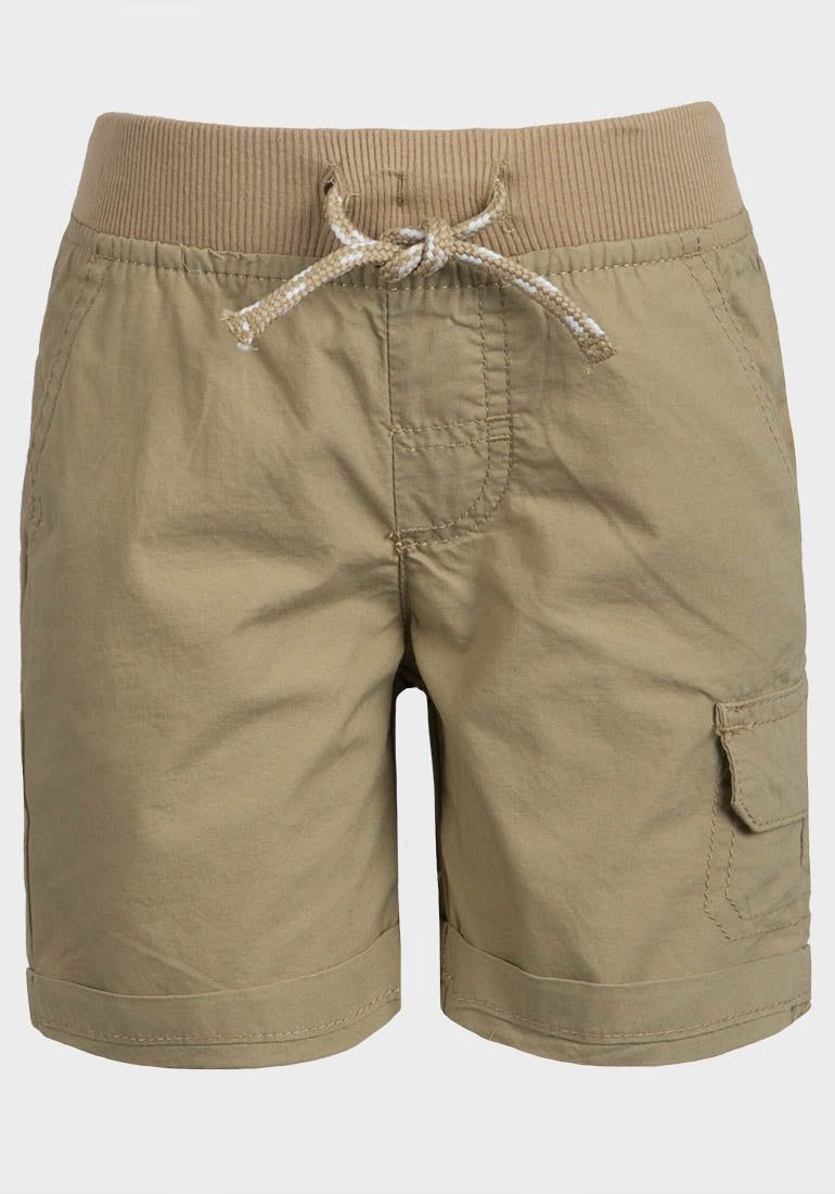 Turn-Up Cuff Poplin Shorts