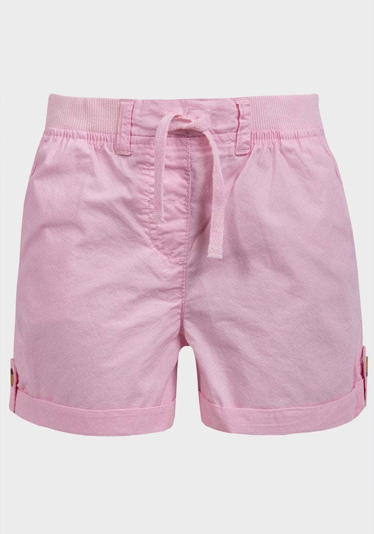 Turn-Up Cuff Woven Shorts
