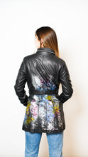 Load image into Gallery viewer, Floral Mid Leather Jacket