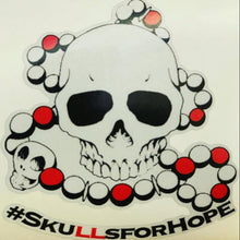 Load image into Gallery viewer, Reflective #Skullsforhope sticker