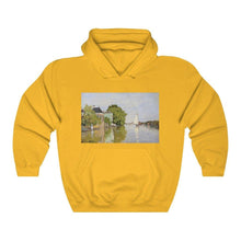 Load image into Gallery viewer, Hooded Sweatshirt - Houses on the Achterzaan, Claude Monet - Art an a T