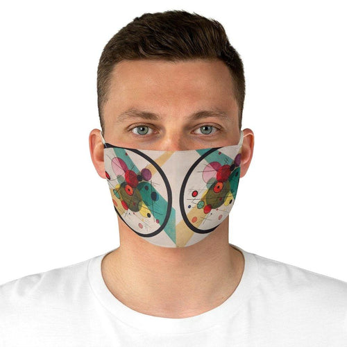 Adjustable Face Mask -  Circles in a Circle, Wassily Kandinsky - Art an a T