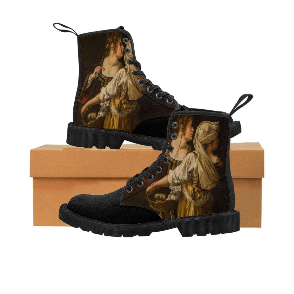 Men's Canvas Boots - Judith and Her Maidservant, Artemisia Gentileschi - Art an a T