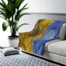Load image into Gallery viewer, Plush Blanket - Wheatfield with Crows, Vincent Van Gogh All Over Prints 59.95 Art an a T