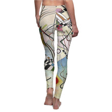 Load image into Gallery viewer, Women's Cut & Sew Casual Leggings - Composition Viii, Wassily Kandinsky All Over Prints 33.88 Art an a T