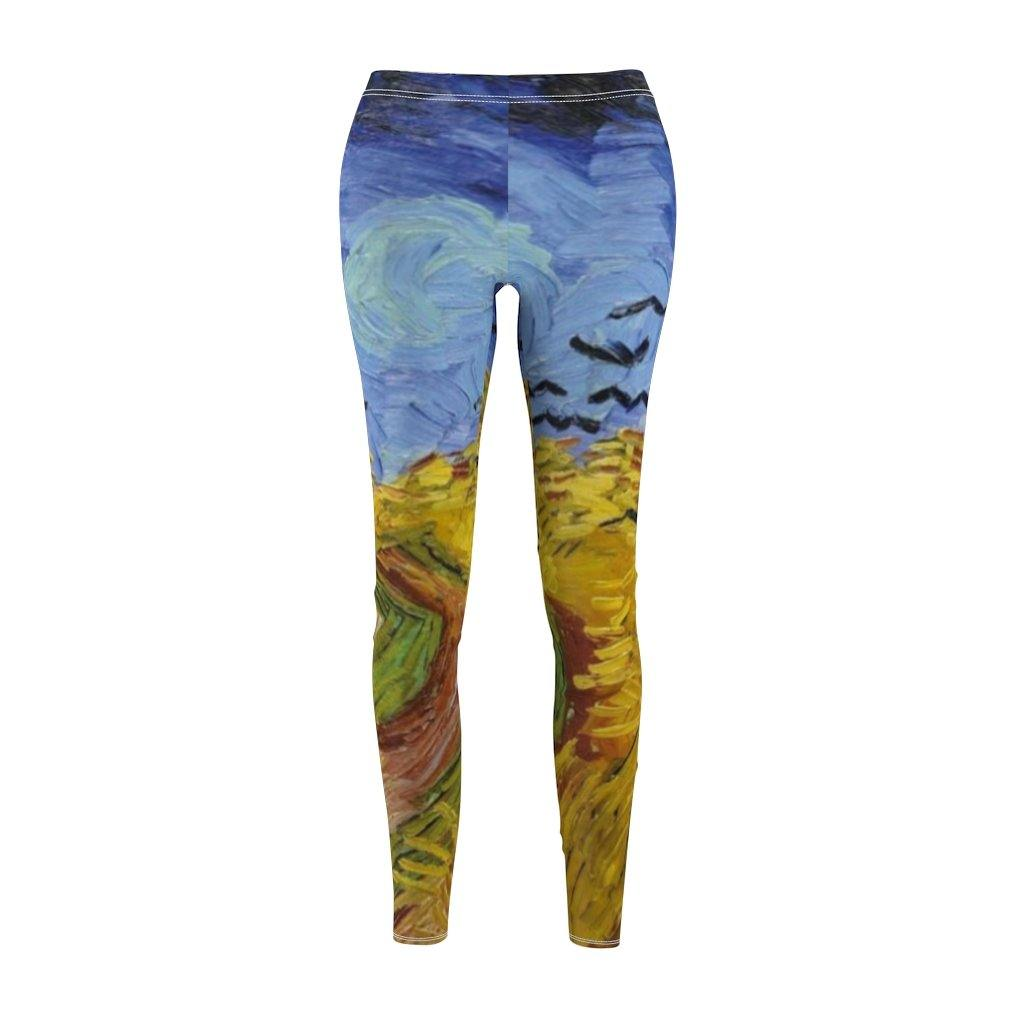 Women's Cut & Sew Casual Leggings - Wheat Stacks with Reaper, Vincent van Gogh - Art an a T